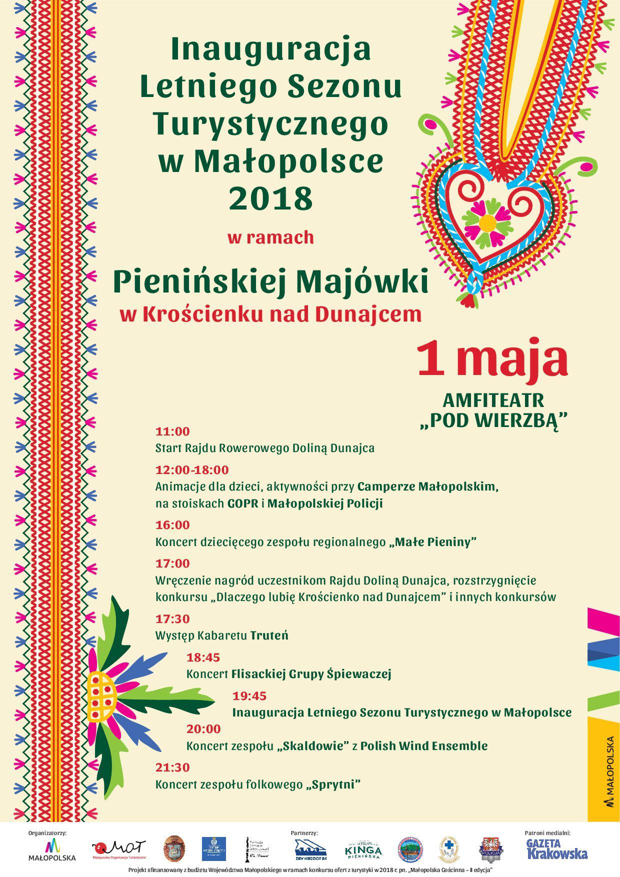 Inauguracja letniego sezonu turystycznego w Małopolsce 2018