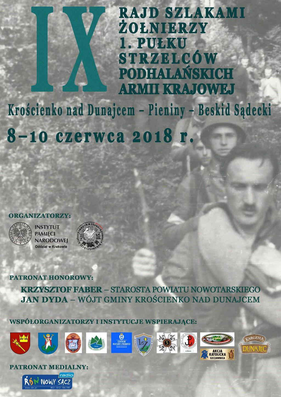 IX Rajd Szlakami Żołnierzy 1. Pułku Strzelców Podhalańskich