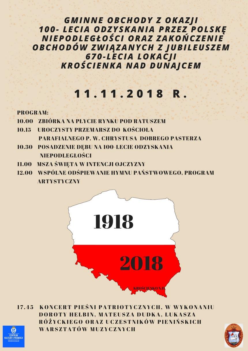 Gminne Obchody 100 - lecia Odzyskania Niepodległości