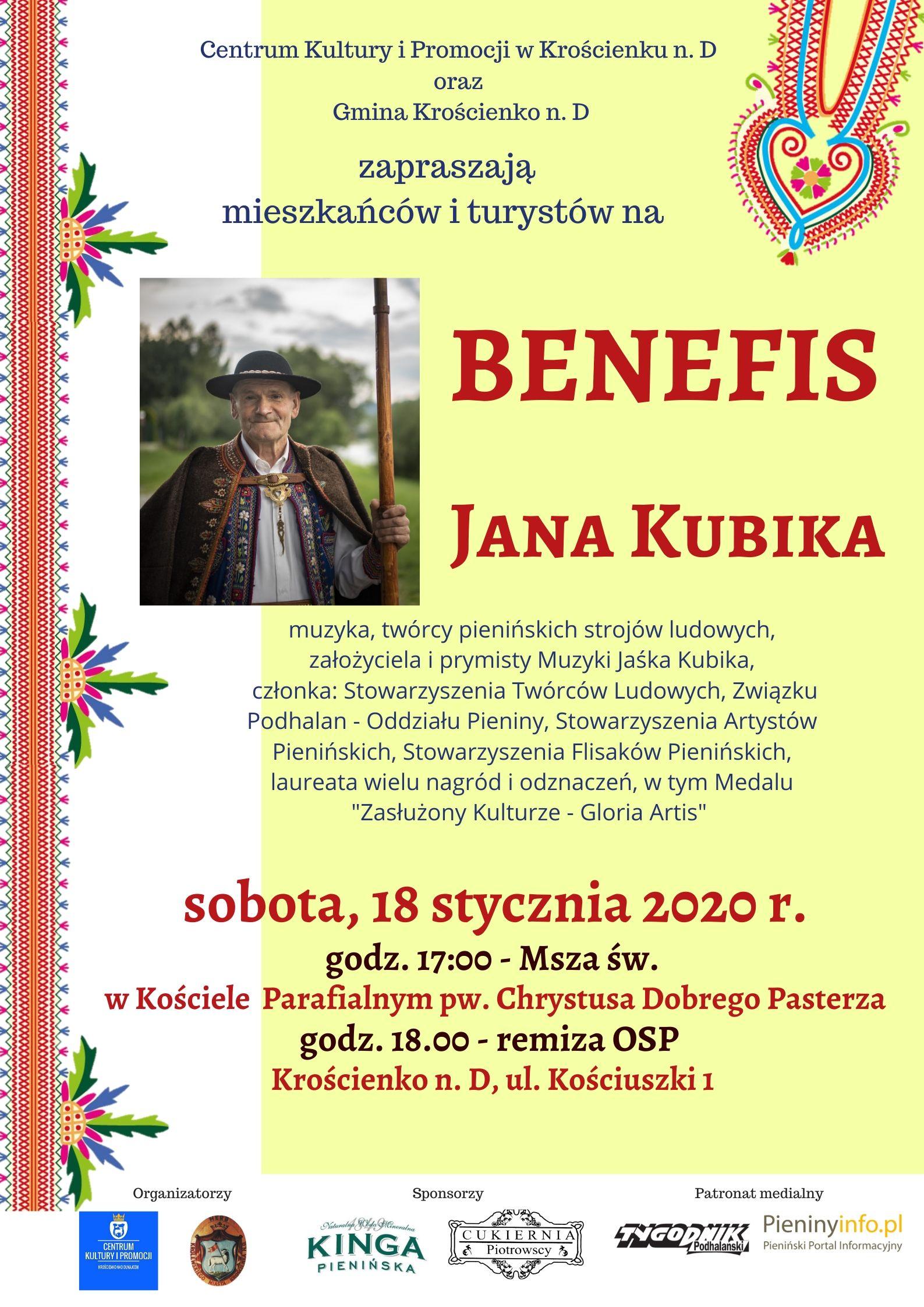 Benefis Jana Kubika - zapraszamy