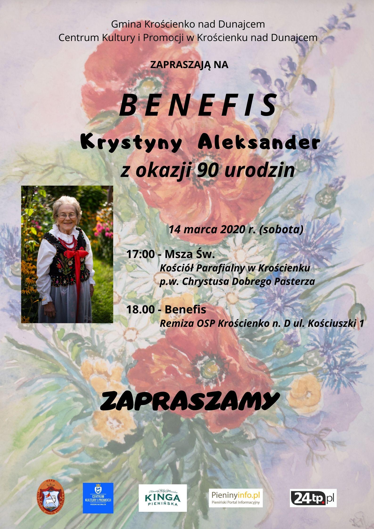 Benefis Krystyny Aleksander - zapraszamy
