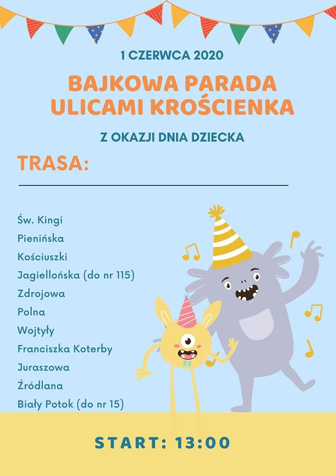 Bajkowa parada ulicami Krościenka