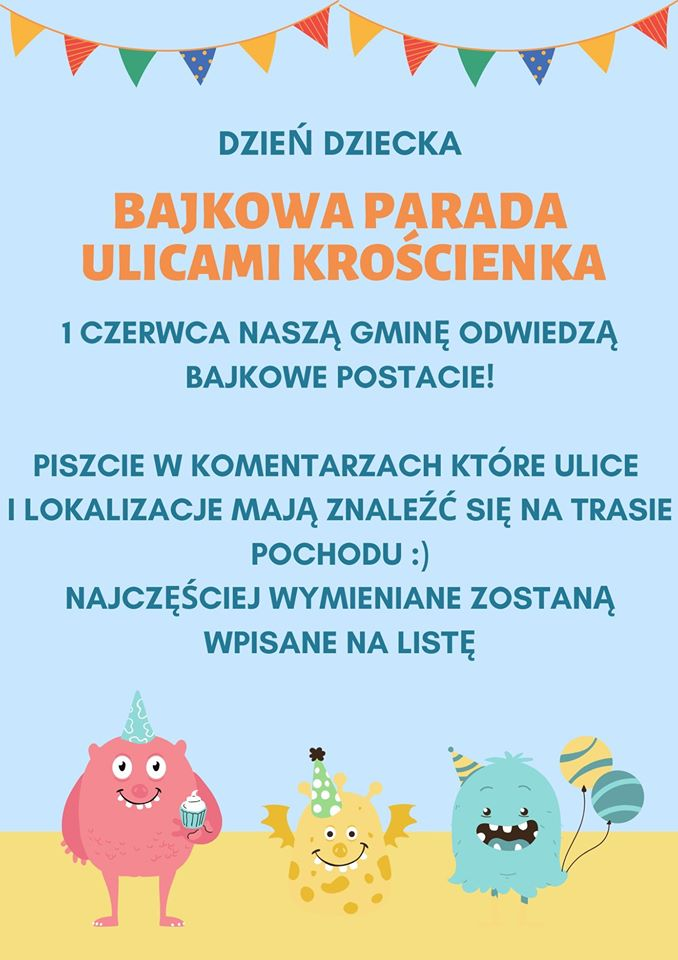 Bajkowa Parada na Dzień Dziecka
