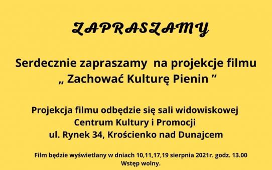 """Zaproszenie na film """"Zachować Kulturę Pienin"""""""